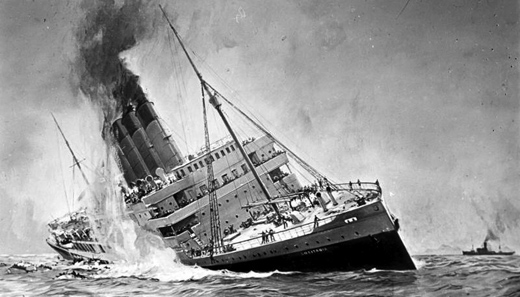 Today in history: The Lusitania is torpedoed and sinks 100 years ago