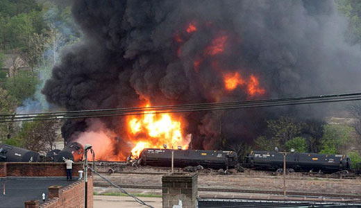 Oil train explosion rattles and poisons Virginia town