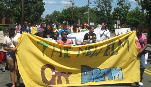Youth march for jobs and to end violence