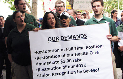 Town hall meet pledges to back BevMo! workers