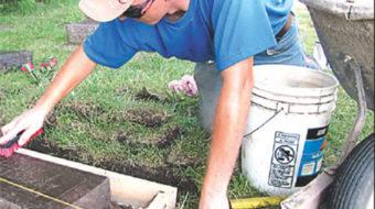 Union volunteers dig up a Minnesota graveyard