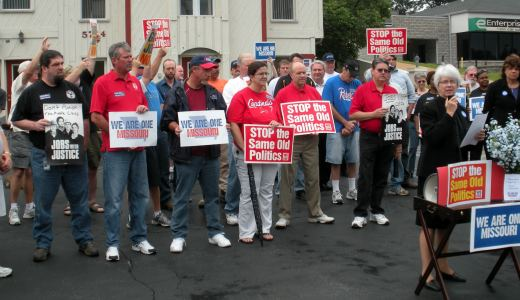 """We Are One rally targets reps who """"chose CEOs over workers"""""""