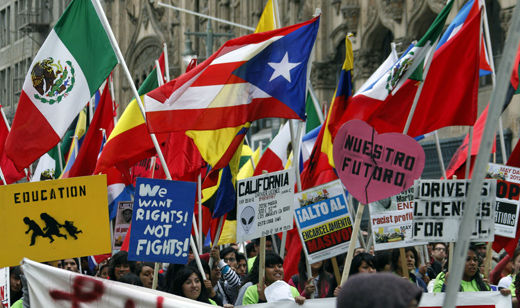 May Day solidarity marches bring thousands to LA streets