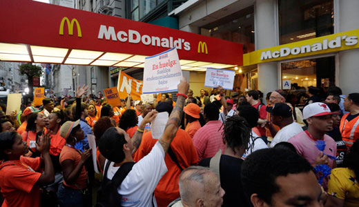 $5.2 billion McDonald's CEO has $8.25 per hour mom arrested