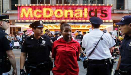Fast food workers walk off the job in 190 cities