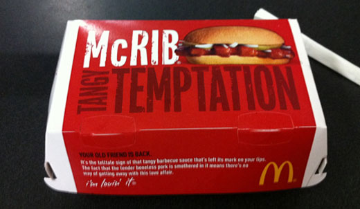 Farewell to McRib (at least for now)
