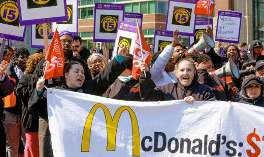 Low-paid workers stage another mass walkout