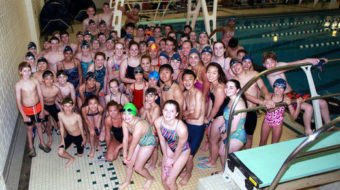Olympian swims to raise awareness on meningitis