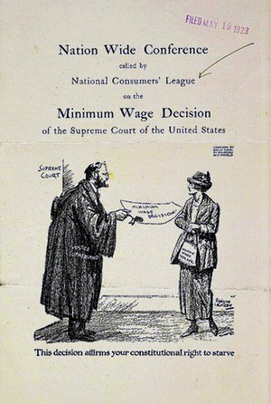 Today in labor history: Supreme Court strikes down min. wage for women