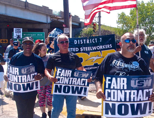 Video: Despite anti-union attacks, steelworkers rally for contract, justice