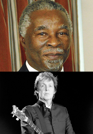 Today in history: World-changers McCartney, Mbeki born