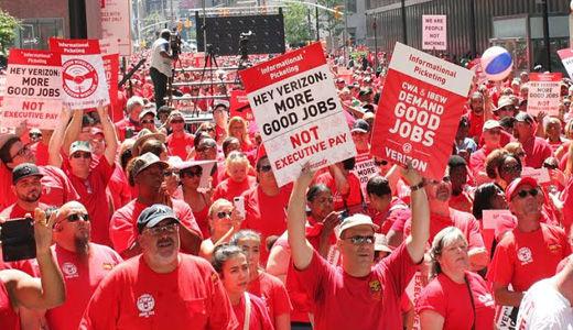Verizon giveback demands force 39,000 on East Coast out on strike