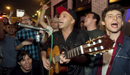 "Tom Morello documentary chronicles unity and ""rebel songs"""