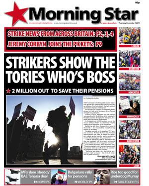 UK: 2 million strike to save their pensions