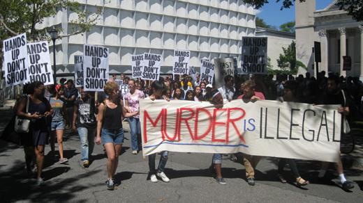 Yale art students show solidarity with Ferguson, Missouri