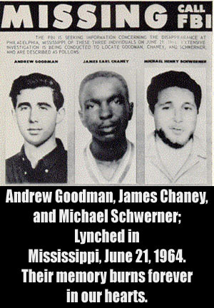 Labor and peoples history: Goodman, Chaney, Schwerner murdered in Mississippi