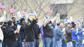Indiana Carrier plant workers take their case directly to UTC shareholders