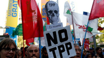 Trans-Pacific Partnership protests mount