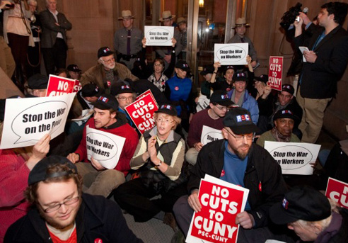 Fifty professors arrested at City University of New York protest