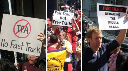 Labor, environmental leaders challenge Fast Track trade deals