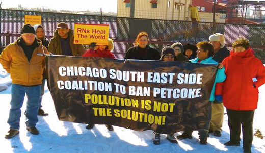 Chicago community fights petcoke, pile by pile
