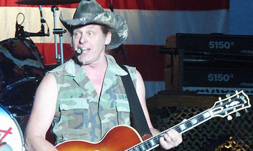 Ted Nugent shoots his mouth off after Obama gun control remarks