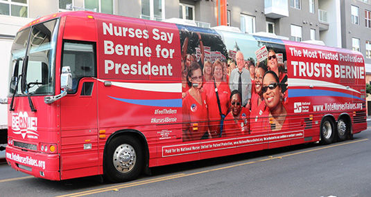 Nurses union says for them it's Sanders all the way