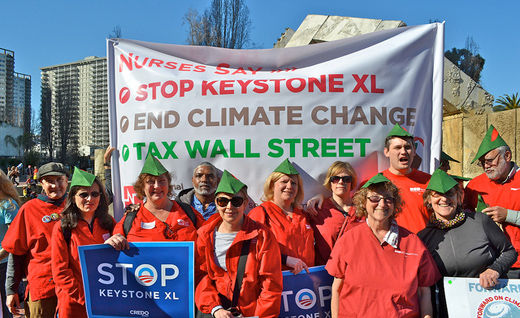 Nurses union cheers Obama Keystone veto threat