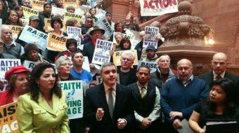 Labor coalition urges N.Y. to raise minimum wage