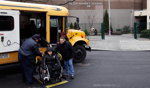 New York's school bus strikers gaining public support