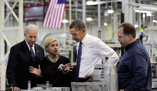 At UAW legislative conference, Obama defends auto bailout