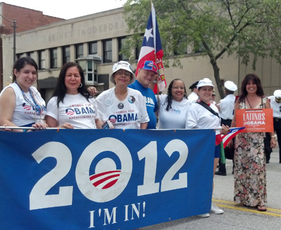 Puerto Rican parade features Latinos for Obama
