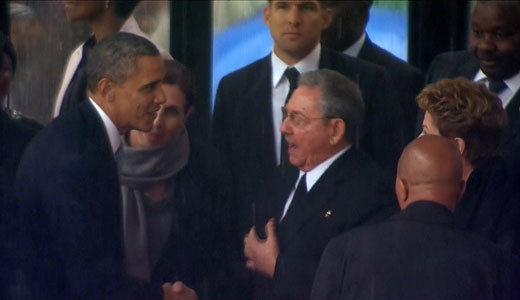 Obama-Castro handshake has meaning
