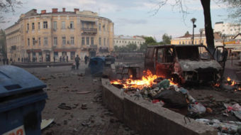 Ukrainian rightists burn alive 39 at Odessa union building