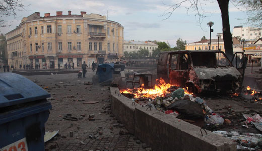 Ukrainian rightists burn alive 39 at Odessa union building
