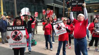 Unions keep up pressure on Verizon