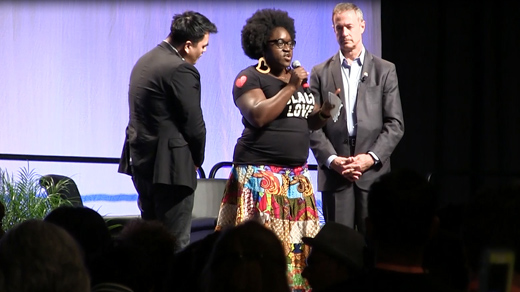 Black Lives Matter disrupts Netroots presidential forum