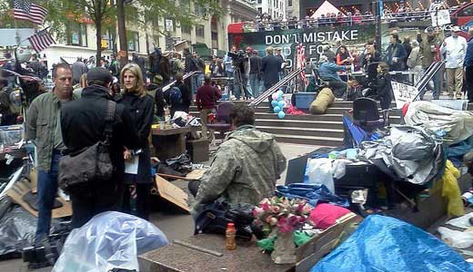 Wall Street occupation grows by the day
