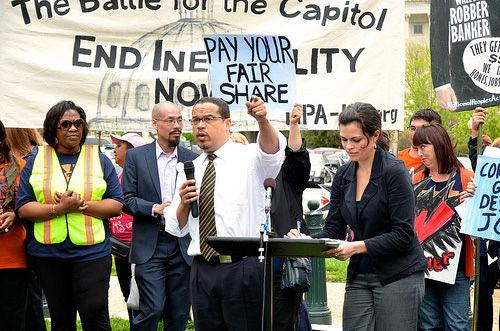 Ellison tacks wage theft ban onto defense bill
