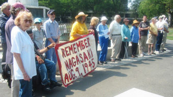 Hiroshima Day vigil calls for nuclear abolition