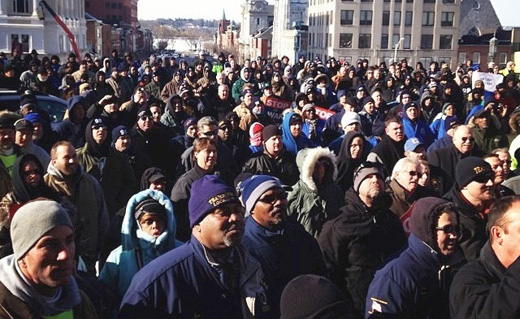 Thousands jam Pennsylvania's capital to protest union-killing bill