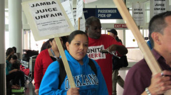 Oakland Airport concession workers win some, and keep up the fight