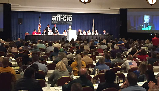 At Minnesota AFL-CIO convention, organizing and elections high on agenda