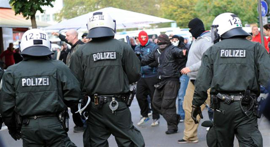 Germany sees confrontations with police too