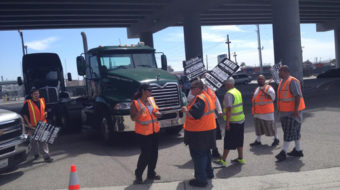 Port drivers out on strike, demand companies follow law