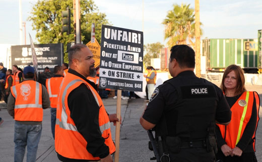 Los Angeles-Long Beach port truckers again forced to strike