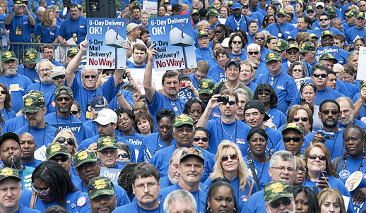 Postal union workers to stage hundreds of rallies Sept. 27