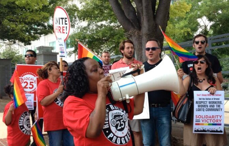 Unions celebrate LGBTQ progress, say challenges remain