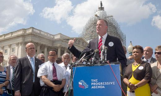 Union leaders, lawmakers, mayors unveil Progressive Agenda