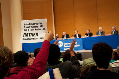 MTA public hearing in Brooklyn erupts in a fit of anger